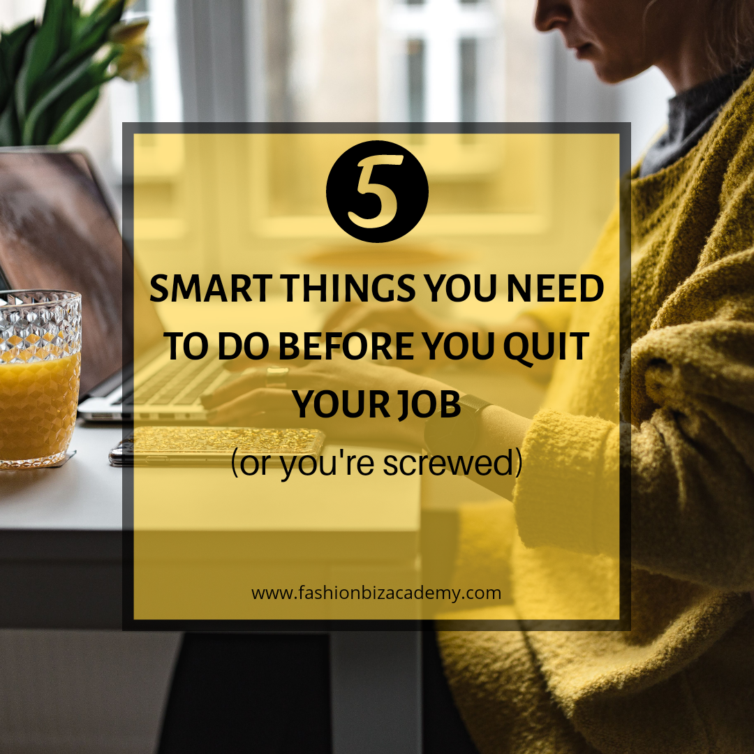 smart things to do before quitting your job graphic