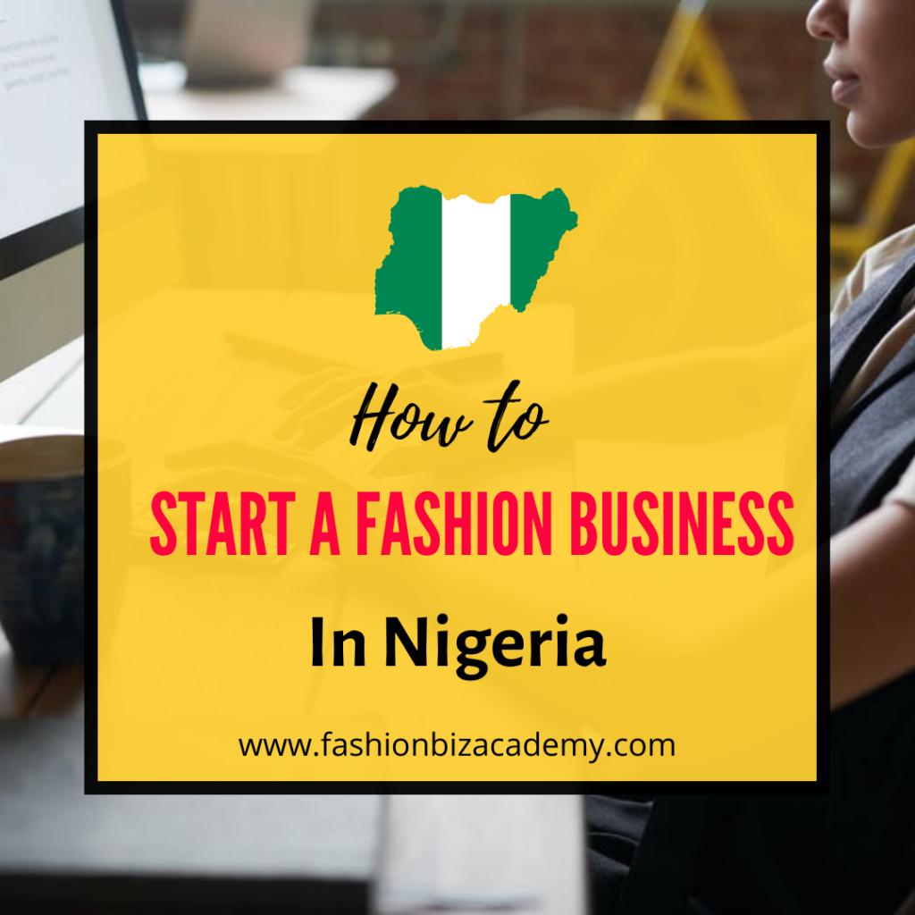 start a fashion business in Nigeria